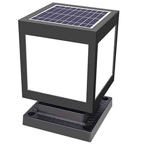 QJUZO Lámpara de Poste Solar, Luz de Jardín Modernas Impermeable en ABS...
