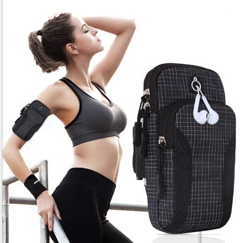 Leezo Brazaletes de teléfono para correr, soporte para teléfono deportivo, bolsa de muñeca para correr, compatible con iPhone 11 Pro Max/Xr/Xs Max/X/8/7 Plus, Galaxy S10/S9/S8 Plus