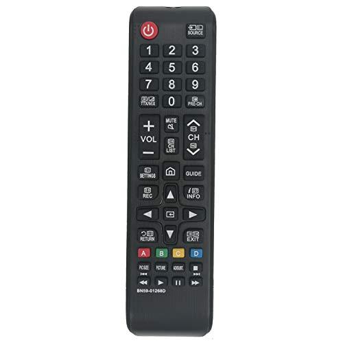 VINABTY BN59-01268D Mando a distancia reemplazado para Samsung UE43NU7190SXXN UE49NU7100K UE40NU7120KXXU UE40NU7120 MU9000 Q7C Q7F Q8C UE49NU7100 UE49NU7100KXXU Ue40nueve 7170 Ue55nu7095 Ue50nu7090