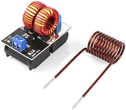 QWORK 5V 12V ZVS Low Voltage Driver Module Induction Power Heating Supply Module with Coil product image