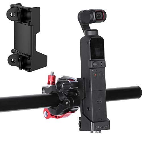 Hensych Adaptador plegable de doble gancho para OSMO Pocket 2, soporte de base utilizado con abrazadera de mochila y clip de bicicleta para cámara OSMO Pocket 2 cardán