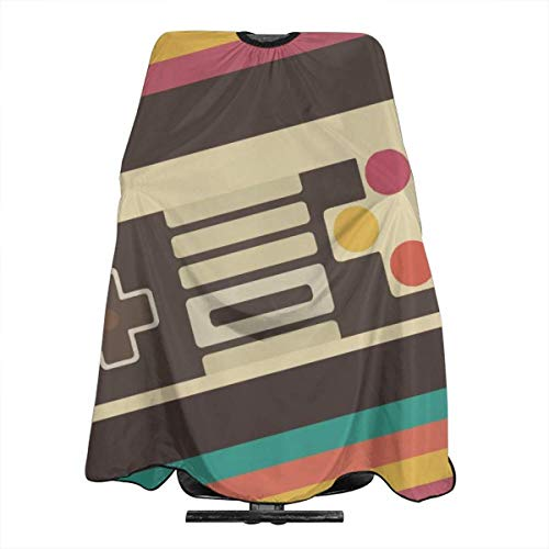 Retro Video Game Controller Haircut Apron Dyeing Styling Cloth For Adult/Women/Men 55