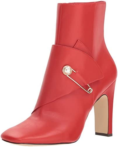 NINE WEST Women s QUITIT Leather Ankle Boot red 6 product image