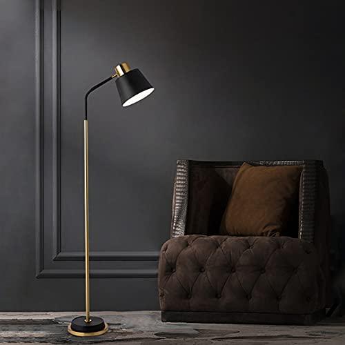 LED Retro Lámpara de Pie Iluminación Interior Moderno Foco de Luces 5W Metal E27 Vintage Industrial Lámpara de Lectura incluye interruptor de pie para Sala de Estar Oficina (Color : Cold light)