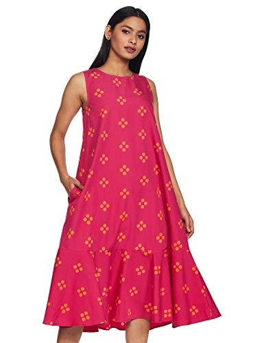 Amazon Brand – Myx Women's Cotton A-Line Midi Dress