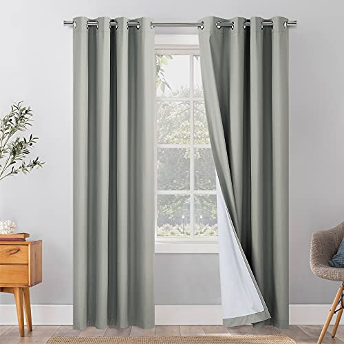 EDILLY 100% Blackout Curtains 84 inch Length for Bedroom, Thermal...