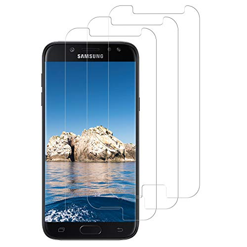 DASFOND [3 Stück] Panzerglas für Samsung Galaxy J5 2017 Schutzfolie, Galaxy J5 2017 Panzerglasfolie, Einfache Installation, 9H Härte, Anti-Kratzen/Öl/Bläschen HD Klar Glas Displayschutzfolie
