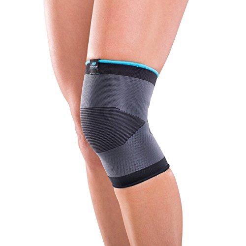 DonJoy Advantage DA161KS01-BLK-L Slip-on Elastic Knee Sleeve for Sprains, Strains, Swelling, Soreness, Arthritis, Easy to Apply Stretch Elastic with Expansion Panels, Black