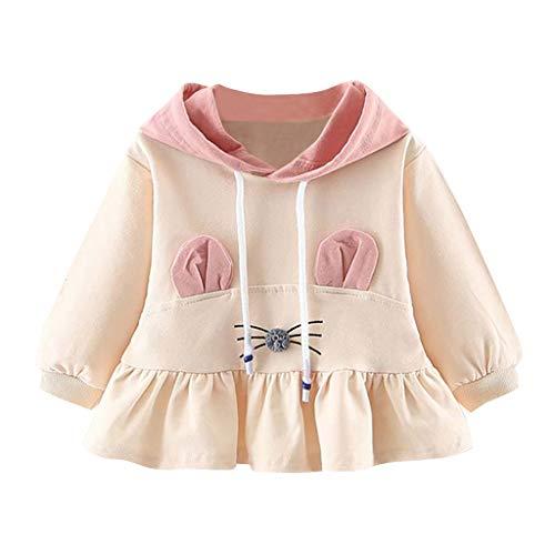 Frashing Baby Mädchen Mäntel aus Baumwolle Frühlung Herbst Winter Jache mit Kapuze Kleinkinder Kleidung Kaninchen Prinzessin Kleid Kleid Mädchen Langarm Anzug Mini Kleid 1-3 Jahre