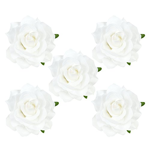 DRESHOW Flower Hair Clip Rose Hairpin Floral Brooch Floral Hair Clips for Women Rose Hair Accessories Wedding Pack 5/16 1