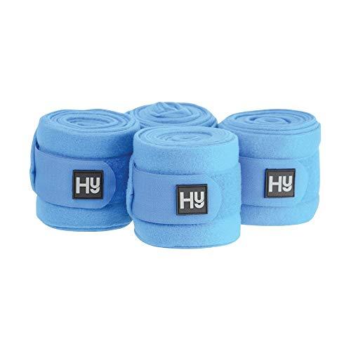Hy - Vendas polar modelo Elite para caballos (Set de 4) (3m x 10cm) (Azul Brillante)