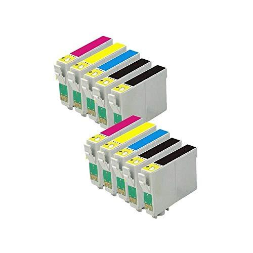 Bramacartuchos - Pack de 10 cartucho compatibles con T0711, T0712, T0713, T0714