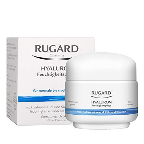 RUGARD Hyaluron Feuchtigkeitspflege: Erfrischende Feuchtigkeitscreme mit Hyaluronsäure & Süßmandelprotein, 50ml