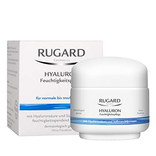 RUGARD Hyaluron Feuchtigkeitspflege: Feuchtigkeitscreme mit Hyaluronsäure für normale & trockene Haut, 100ml