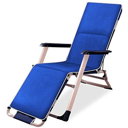 C2014 Gartenstuhl mit Armlehnen und Liegestuhl, Gartenmöbel, Klappbett mit Kissen für Strand, Pool, Outdoor, Terrasse, Camping, 120 kg max.