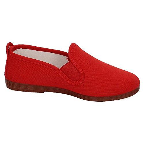 JAVER 55 Zapatilla Camping Mujer Zapatillas Rojo 39