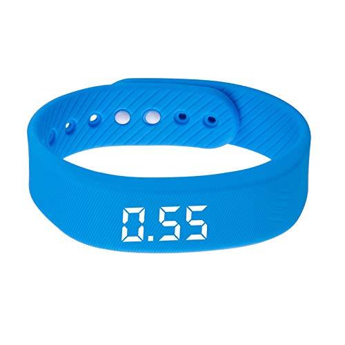 balikha Pulsera Que Camina del Deporte Elegante LED del Monitor de La Aptitud Recargable del USB - Azul