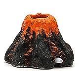 Naisicatar Decoraciones del Tanque de Peces, Kit de Adorno de volcán de Acuario, volcán Acuario Burbuja de Aire Piedra Bomba de oxígeno Adorno Decoración pequeña