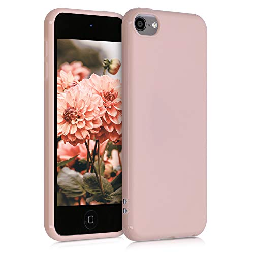 kwmobile Hülle kompatibel mit Apple iPod Touch 6G / 7G (6. und 7.Generation) - Silikon Backcover Schutzhülle - Cover Case in Altrosa