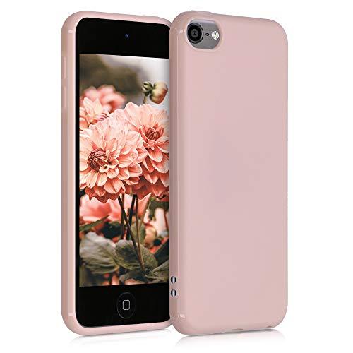 kwmobile Coque Compatible avec Apple iPod Touch 6G / 7G (6ème et 7ème génération) - Housse de Protection pour Lecteur média Portable en Silicone - Rose Ancien