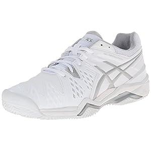 ASICS Women's Gel-Resolution 6 Clay Court Tennis Shoe,White/Silver,5.5 M US