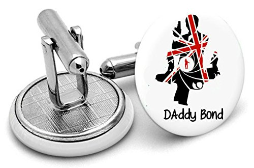 Daddy Bond Boutons de manchette, Homme, cadeaux, mariage, Groom, Fathers Day