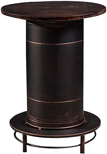 XBRMMM Hocker Bar Von Barstuhl, Tische und Stühle Bar, Bench Old Schmiedeeisen Industrie Stil Retro-Dessert Bei Tee Milch-Kombination auf Ölkanne (Farbe, Bar Set),Stehtisch