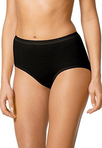 Mey Basics Serie Exquisite Damen Taillenslips/ - Pants Schwarz 42