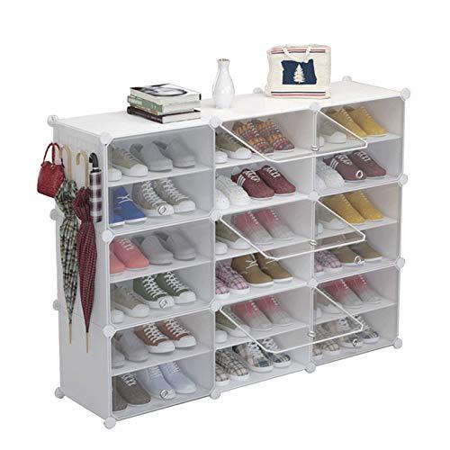 Zapato portátil de almacenamiento de zapatos ideal para zapatos, botas, zapatillas de zapatos portátil de almacenamiento de zapatos Organzier Tower, gabinete modular para ahorro de espacio organizador