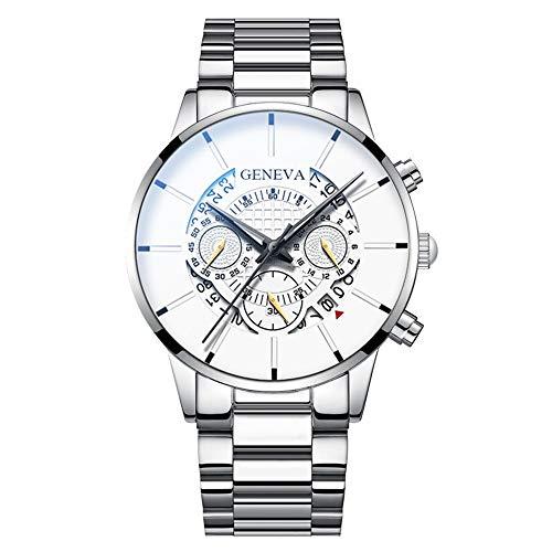 YIBOKANG Negocio De Hombres Casual Sports Big Dial Calendario Reloj De Cuarzo Impermeable Reloj De Moda con Reloj De Regalo (Color : 15)