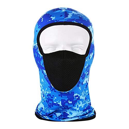 Outdoor Ijs Zijde Masker Zonnebrandcrème Gezicht Geschikt Voor Sporten Met Mesh Ademende Capuchon,Camouflage blue