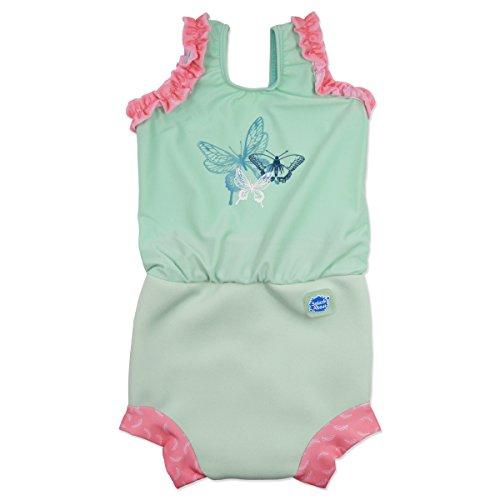 Splash About Happy Nappy–Bañador para niña, Happy Nappy, Dragonfly, XL