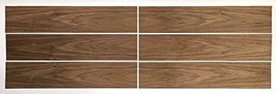"""Walnut Wood Veneer Pack - No Backing - 7.5 SQ FT - 6""""W x 30""""L (6 pieces)"""