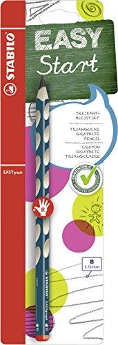 Ergonomischer Dreikant-Bleistift für Rechtshänder - STABILO EASYgraph in petrol - Einzelstift - Härtegrad B
