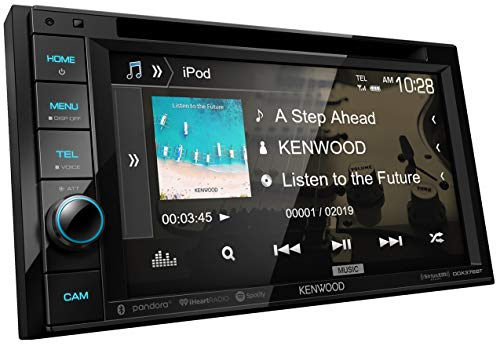 "Kenwood DDX376BT Double DIN In-Dash 6.2"" DVD Receiver with Bluetooth 