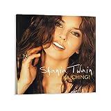 YANDING Shania Twain Singer Poster auf Leinwand,