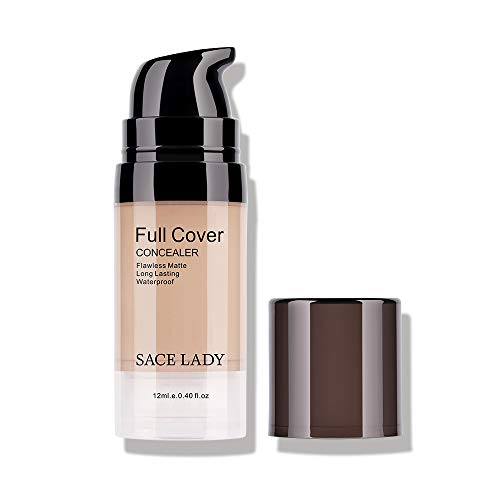 Pro Full Cover Liquid Concealer, Waterproof Smooth Matte Flawless Finish Creamy Concealer Foundation for Under Eye Dark Circles Spot Face Concealer Corrector Makeup Base