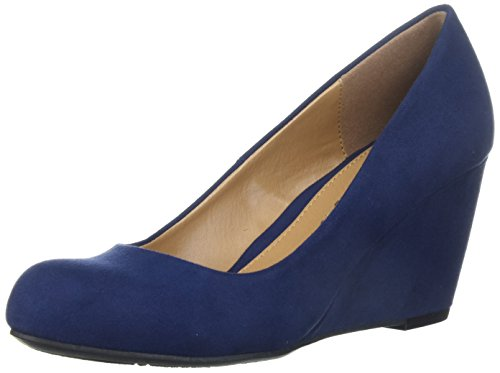 CL by Chinese Laundry womens Nima Wedge Pump, navy super suede, 8.5 M US