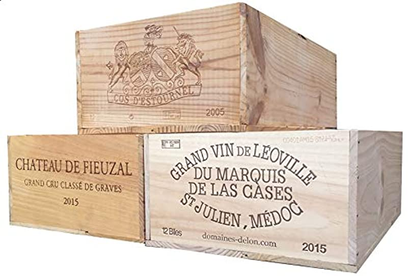 Vineyard Crates One (1) Decorative French Wine Crate - Wooden Box for Wine Storage Wedding Decor DIY Projects Garden Planter Boxes NO Lid NO Storage Inserts (12BtlStd) meuykyyn999377