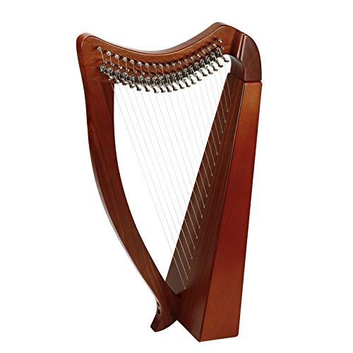 RROWER Hohe Celtic Irish Harp, 15 Streicher Massivholz Mit Metallhebel, 17Inch, Tuning Der Schlüssel, Mit Tasche, Excellent Nylon Oberfläche, Für Musikfreunde Anfänger Kinder Erwachsene