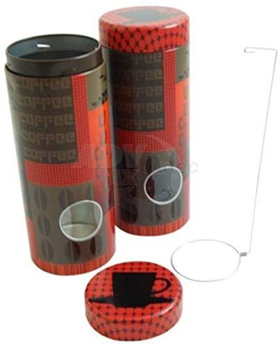 Premium Vorratsdose für Kaffeepads red Coffee Pad' 7,5 x 19,2cm Aufbewahrungsbehälter für Kaffeepads Senseo + Padheber