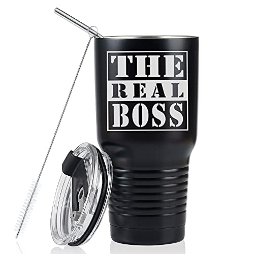 Boss Gifts for Men, Stainless Steel Tumbler 30oz, Perfect Boss Idea...