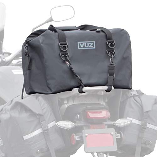 Vuz Dry Duffle Motorcycle Tail Bag - Waterproof Rugged Motor Bike Luggage Cargo Roll Top Bag, 45-Liters (12 gal)