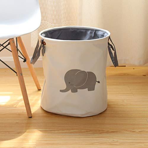Opvouwbare opbergtas van katoen en linnen, geschikt voor speelgoed of kleding voor gezinsopslag, opvouwbare wasmand voor thuis, olifant