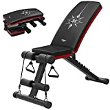 YAMEIJIA Verstellbare Hantelbank Sit Up AB Bank Hantel Bank Multi-Purpose Bauchtrainer mit Zugseil 7...