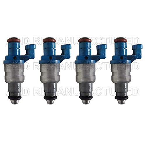 AAP Re-Manufactured Set of 4 Genuine Siemens Turbo Fuel Injectors for 03 04 05 Saab 9-3 2.0L #12790825