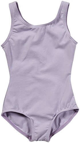 Capezio Big Girls' High Neck Tank Leotard, Lavender, Medium
