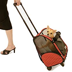 pet backpack or wheel-around carrier