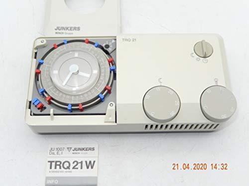JUNKERS TRQ 21W Termostato de ambiente con programación semanal y temporizador semanal analógico con manual en embalaje original, pieza de repuesto sin usar