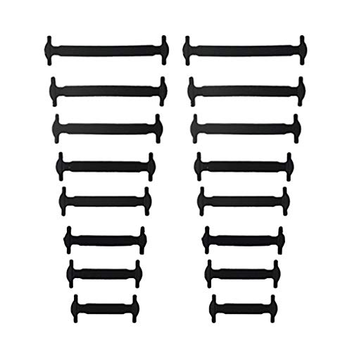 LEVEL GREAT 16pcs / Paar Erwachsener Faule Elastic Keine Krawatte Schnürsenkel Freie Binden Silikon Schnürsenkel Leicht Schnürsenkel